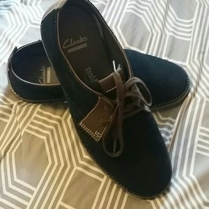Clarks Navy Blue and brown Men's Shoes